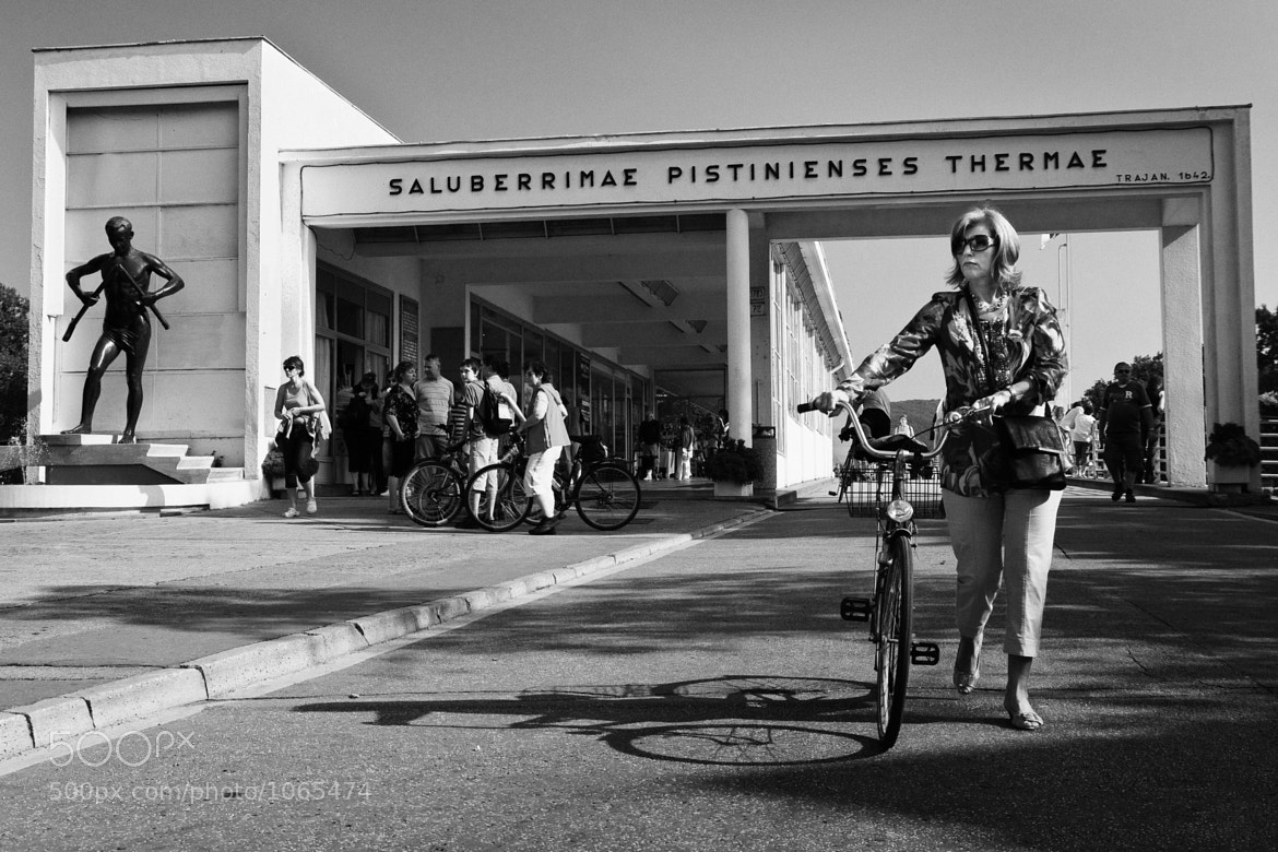 Photograph Lady with a bicycle by Richard Sladek on 500px