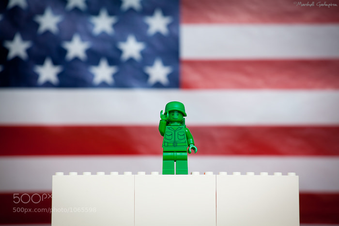 Photograph Lego Patton celebrates the Fourth by Marshall Garlington on 500px