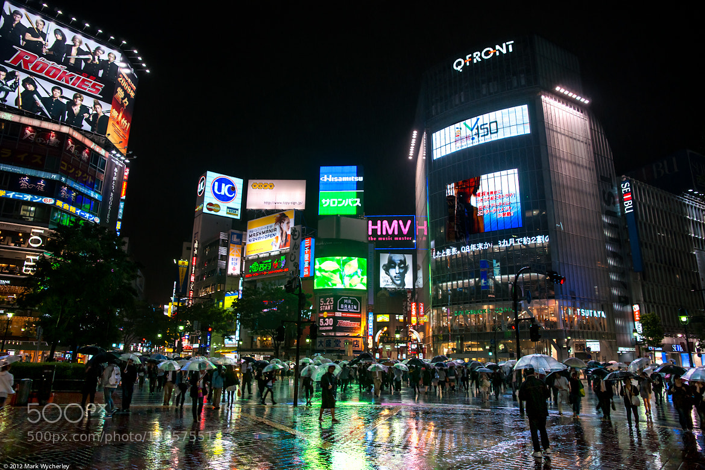 Photograph Shibuya in the rain by Mark Wycherley on 500px