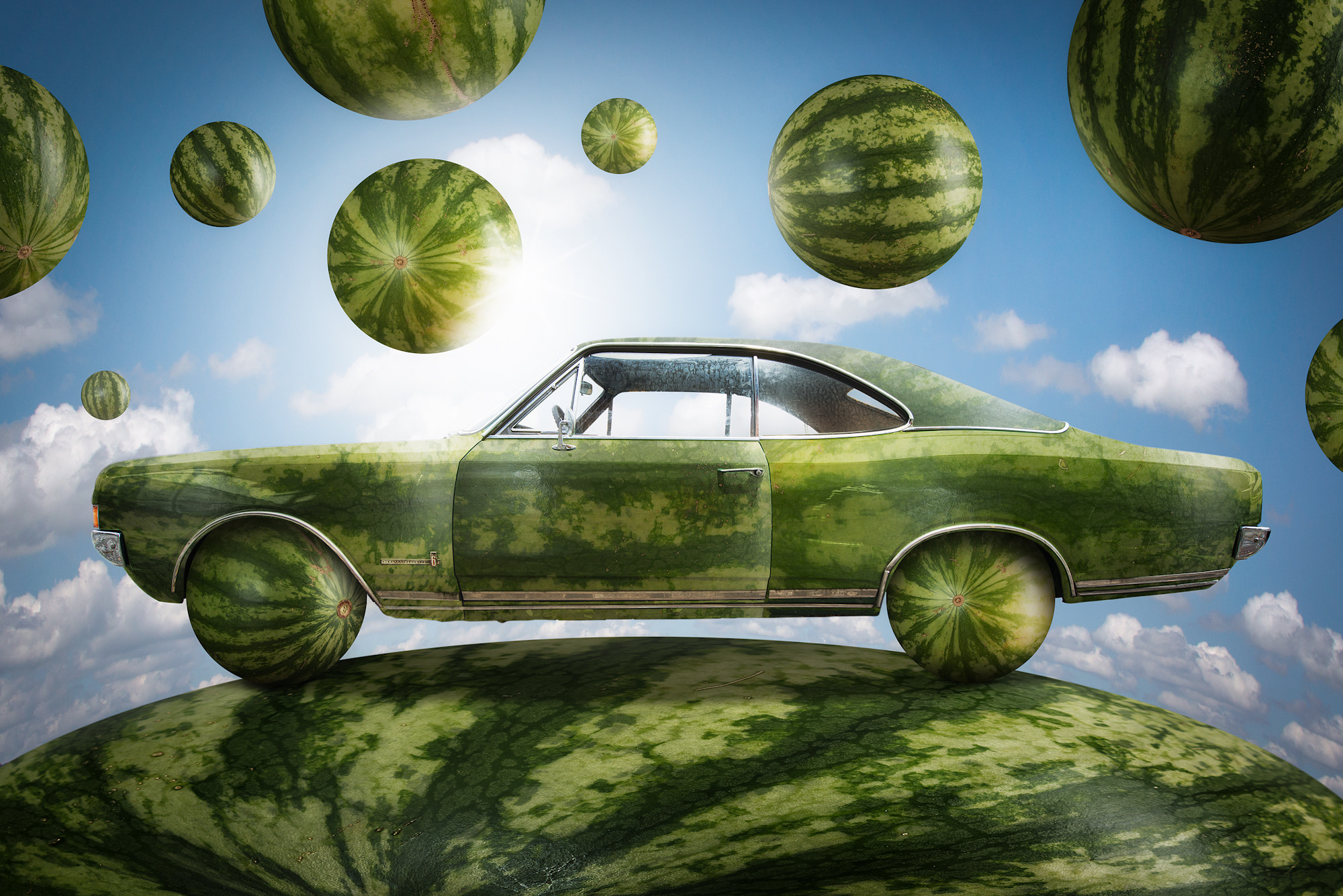 Photograph The Watermeloncar by John Wilhelm is a photoholic on 500px