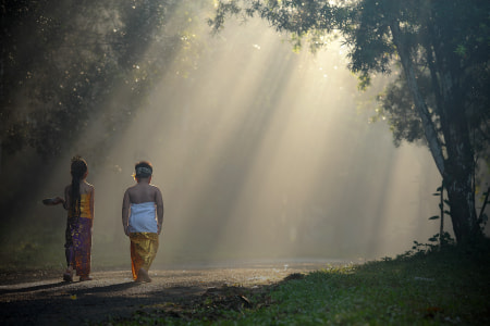 going to the temple by dewan irawan