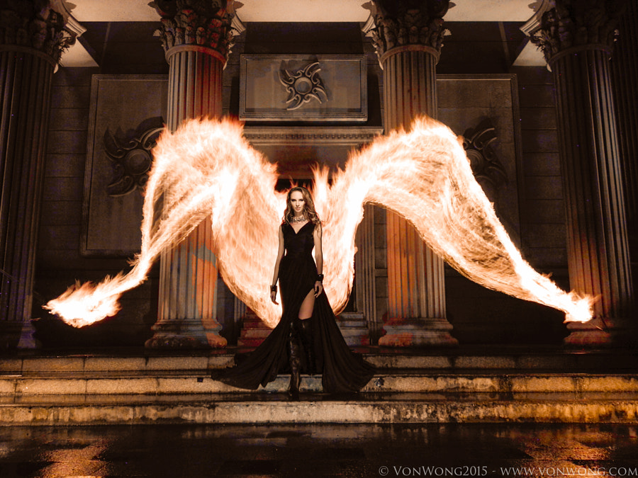 Photograph Huawei Fire Angel - ft. Von Wong by Benjamin Von Wong on 500px