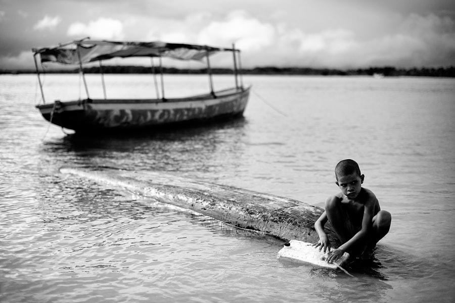 Boy at Boipeba Island