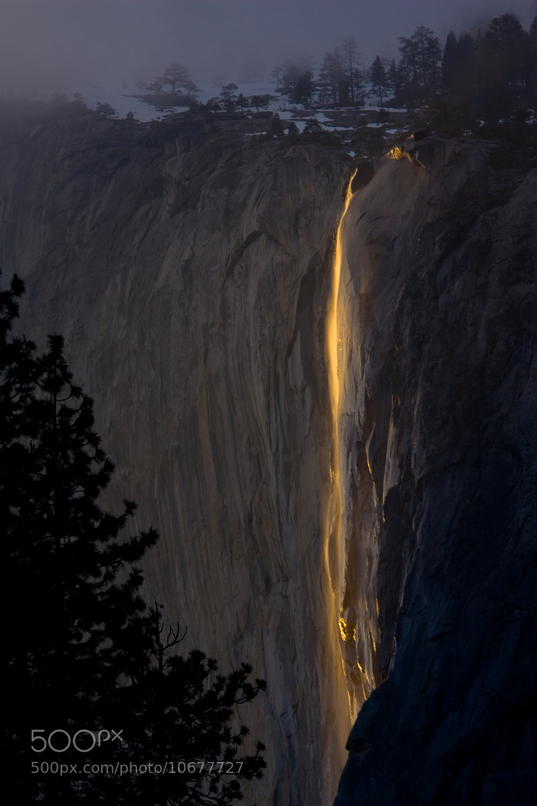 Photograph Final Light on Horsetail Fall by Tim Bloomquist on 500px