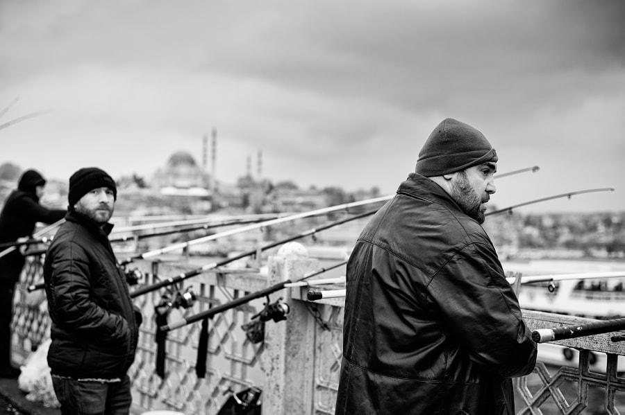 Istanbul Fisherman on Bosphorus