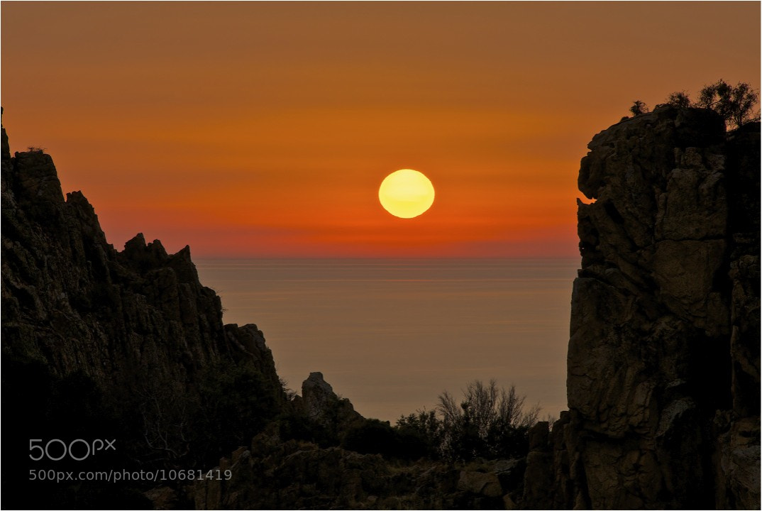 Photograph Corsican sunset by John Barker on 500px
