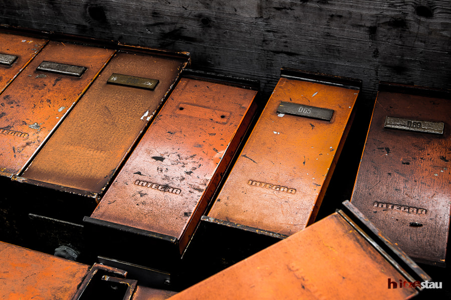Photograph Old Metal Boxes by hitzestau on 500px