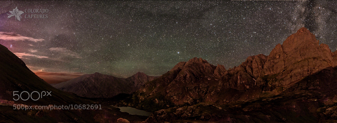 Photograph Crestone Needle Nightscape by Mike Berenson - Colorado Captures on 500px