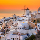 The town of Oia (pronounced Eee-a) on Santorini Island, Greece. After seeing this place, coming back home to reality wasn't easy.