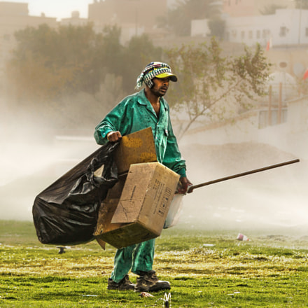 Sweeper at misty Morning..
