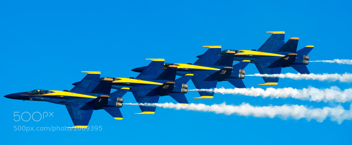 Photograph Blue Angels in a Row by Andy Brown on 500px