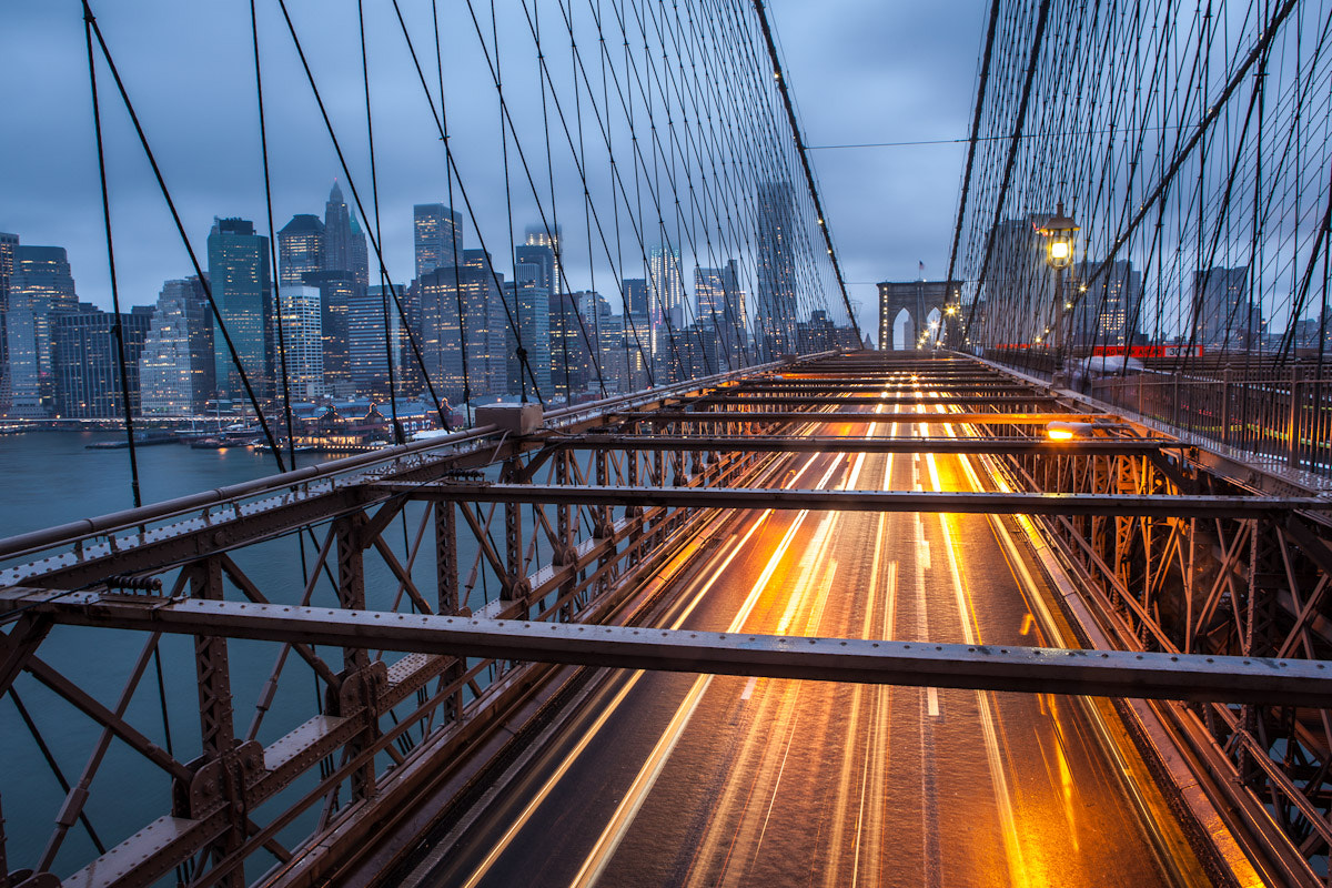 Photograph Brooklyn Bridge Blue Hour by Stephen Probert on 500px