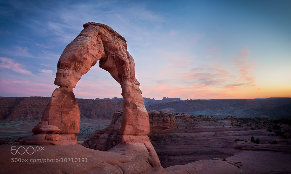 Photograph Delicate Arch Fading Light by Stephen Probert on 500px