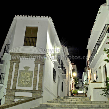 Frigiliana at Night, Nerja, Andalusia, Costa del Sol, Spain