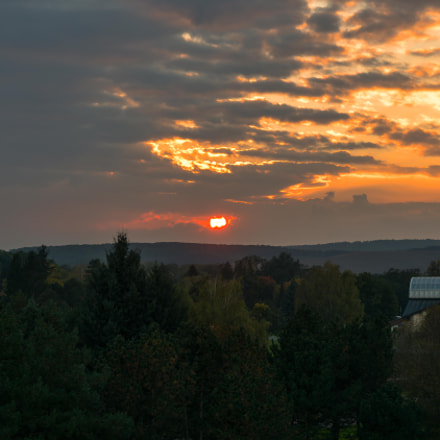 Sunset over Dudince