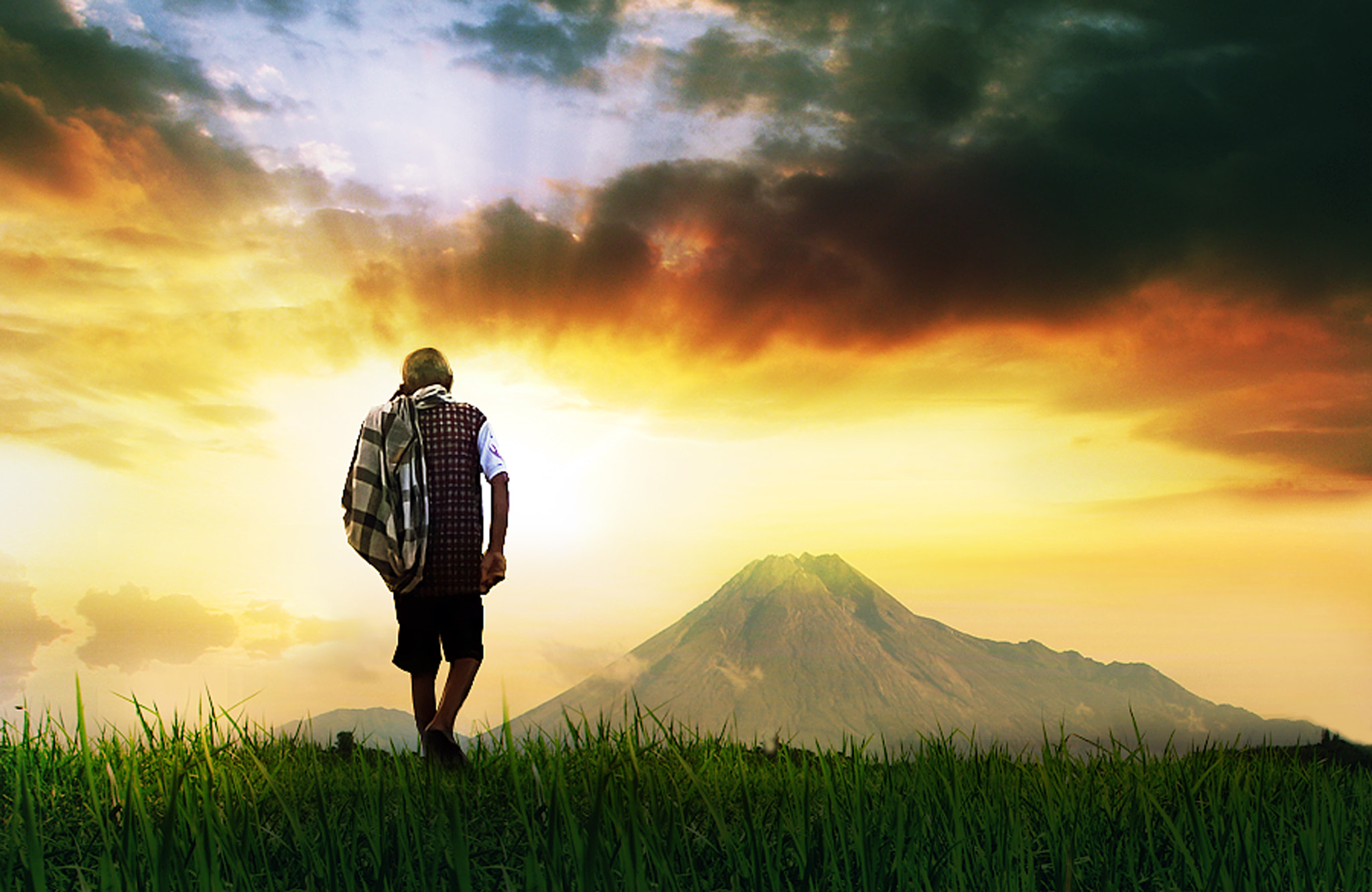 Photograph between  earth, mountains and  sun by 3 Joko on 500px