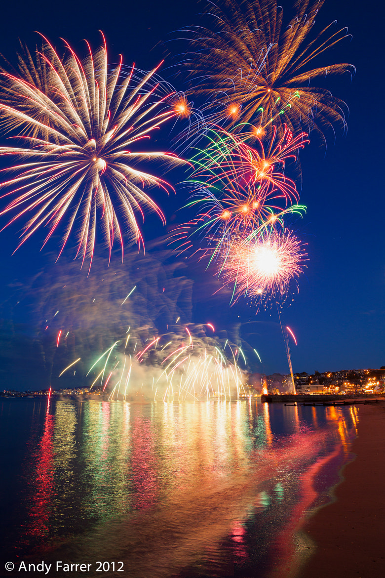 Photograph Fireworks at Swanage by Andy Farrer on 500px