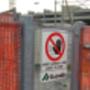 Do not access here says the Italian construction site