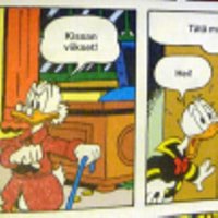 Donald Duck pointing out something in the collective agreement