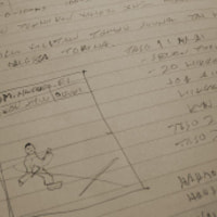 Early sketches of mobile nanbudo game