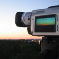 Filming the sunrise