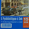 Parking voucher in Helsinki before the Euro appeared