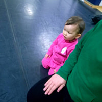 Proper Sitting Posture Can Be Assumed By A Two Year Old