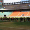 San Siro and FC Milan senior training