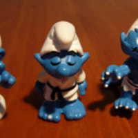 Three smurfs - Juga, Jukka and Olavi
