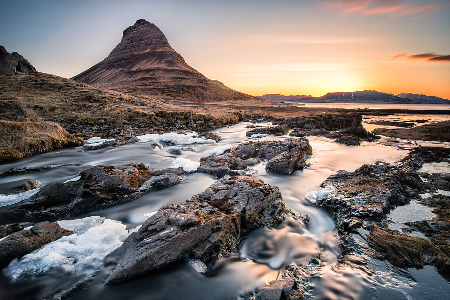 Photograph Sunrise at Kirkjufellsfoss by Evgeny Tchebotarev on 500px