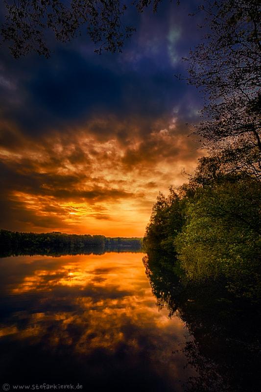 Lake am Abend