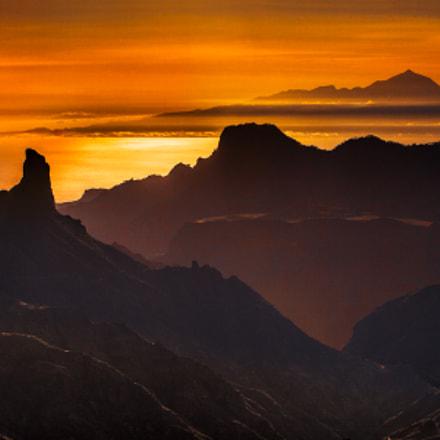 Roque Bentayga y El Teide