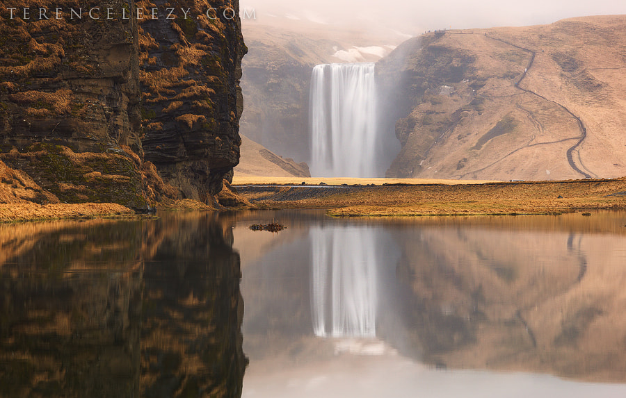 Photograph Skógafoss Reflection by Terence Leezy on 500px