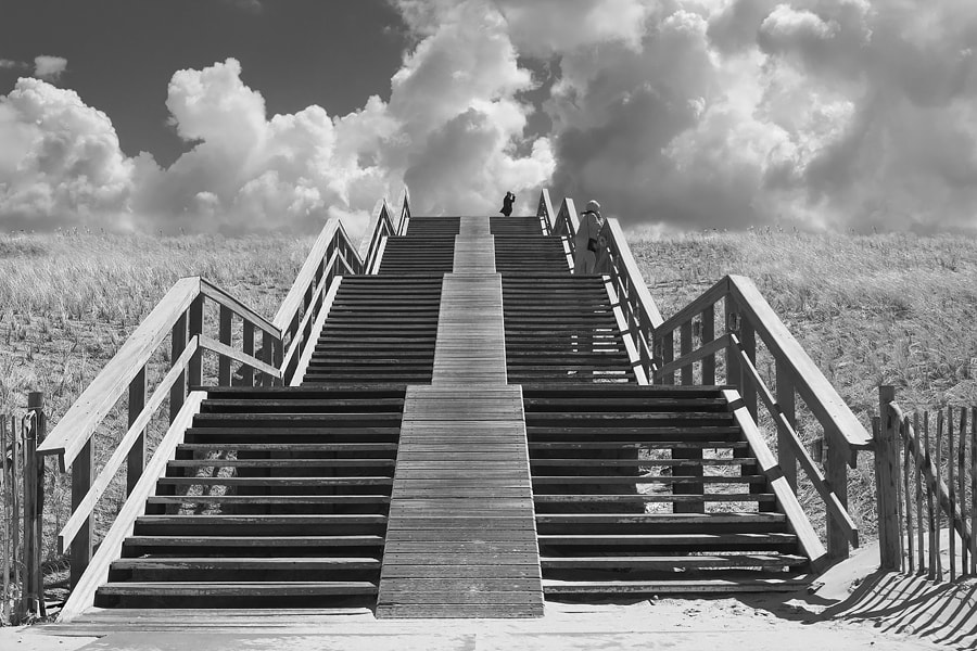 Photograph stairs 1 at Kijkduin, Holland   by Arend van der Salm on 500px