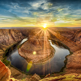 Horshoe Bend Sunset by Jon Adams (reflectedpixel)) on 500px.com