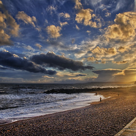 Sunset on the prom, West Bay by Chris Spracklen (chrisspracklen)) on 500px.com