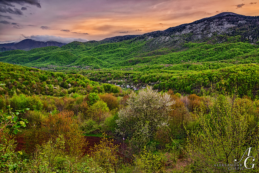 End of the day in the embrace of Velebit range