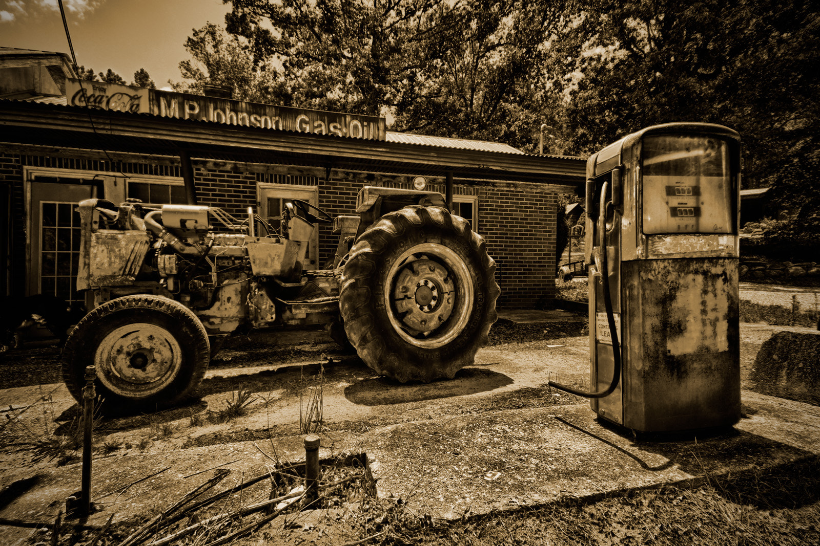 Photograph Gas Station by Mitch Kloorfain on 500px