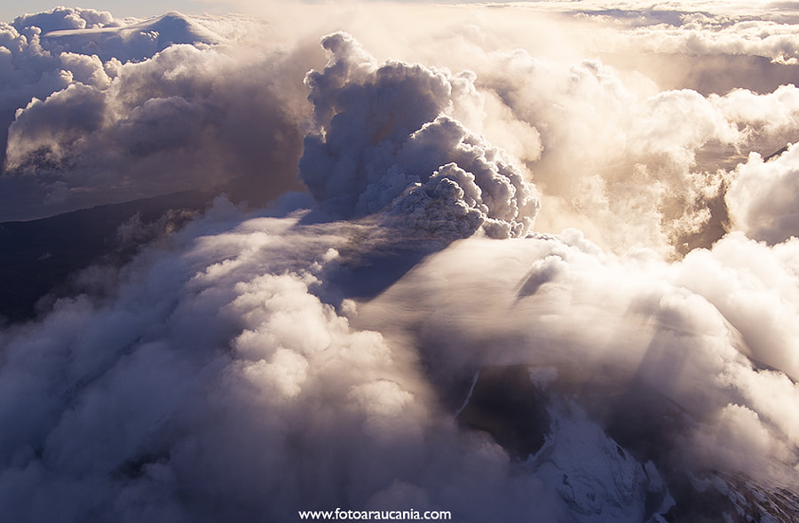 Photograph Calbuco Volcano aerial view by Diego Spatafore on 500px