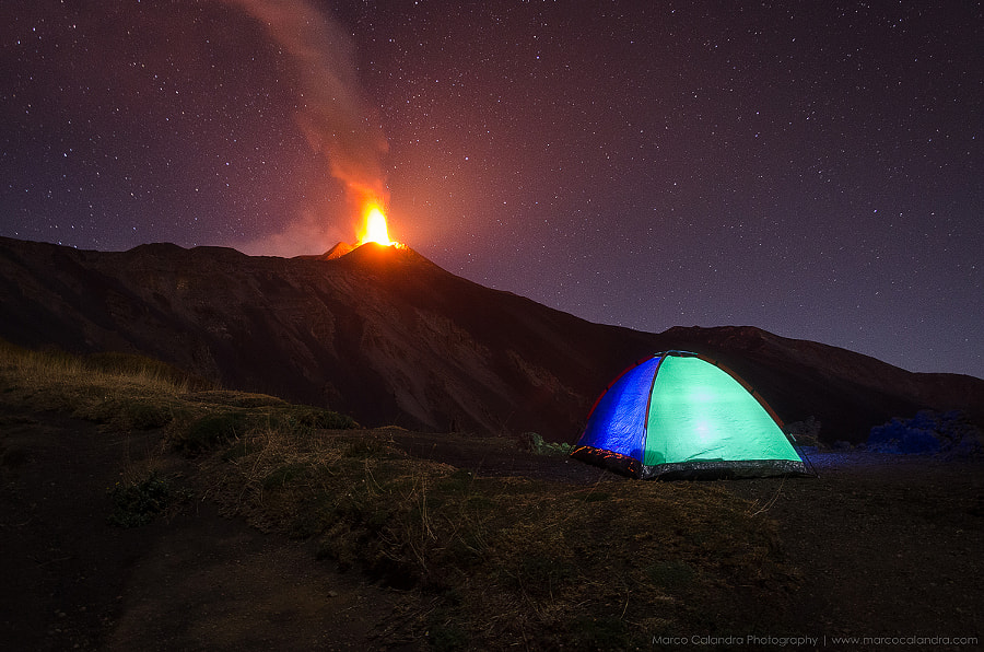 Camping on the volcano Etna by Marco Calandra on 500px.com