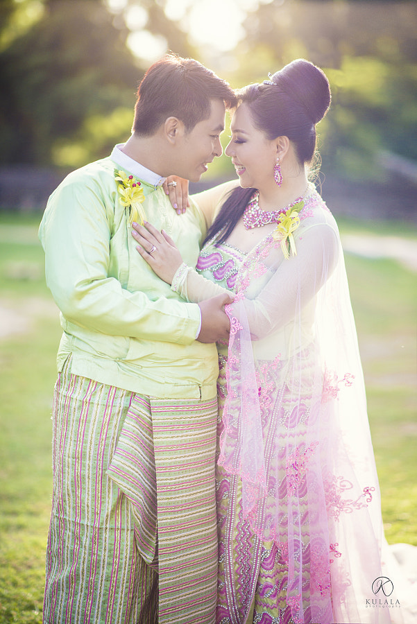 This Is our Myanmar Traditional Dress. Isn't it Elegent?