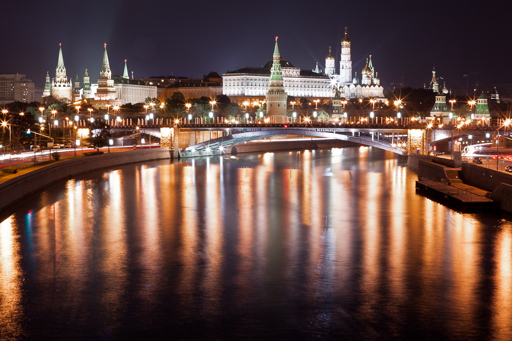 Photograph Moscow at night by Michael Shmelev on 500px