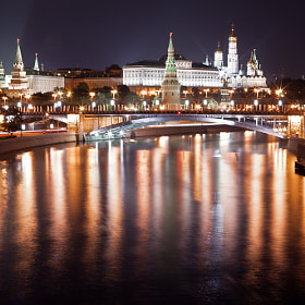 Moscow at night by Michael Shmelev (tibetmonk)) on 500px.com