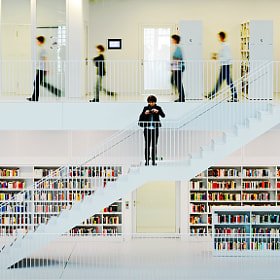 In a Library by Egon  Kronschnabel (kr_egon)) on 500px.com