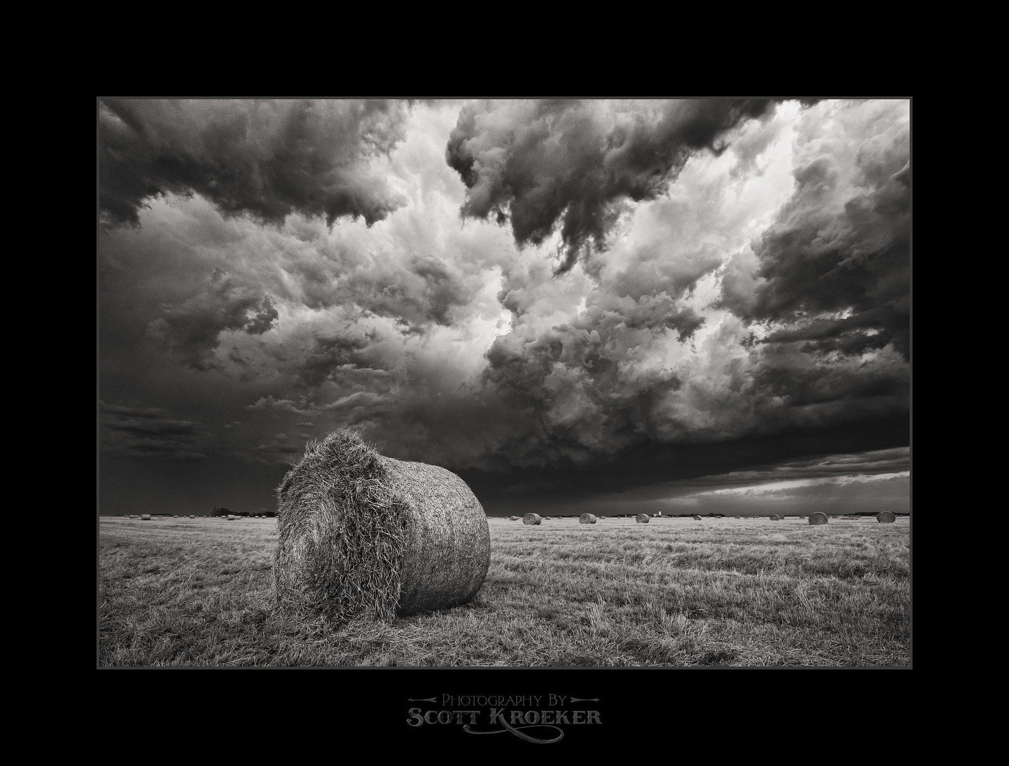 Photograph Bale Blow Out (BW) by Scott Kroeker on 500px