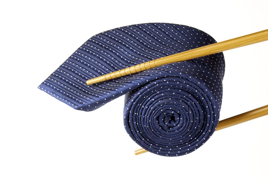 Blue tie and chopsticks by Vaidas Bučys on 500px.com