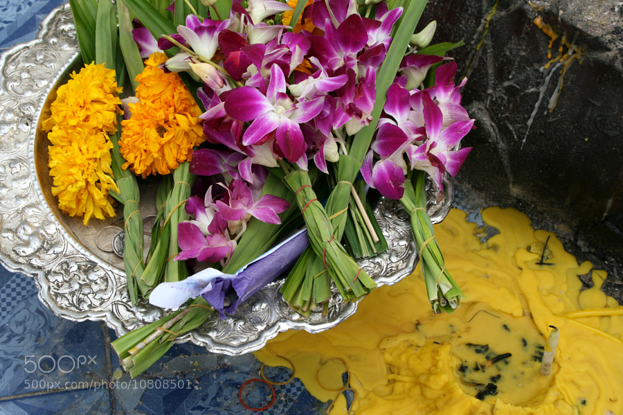 Photograph Thai offerings by Lisey Rae on 500px