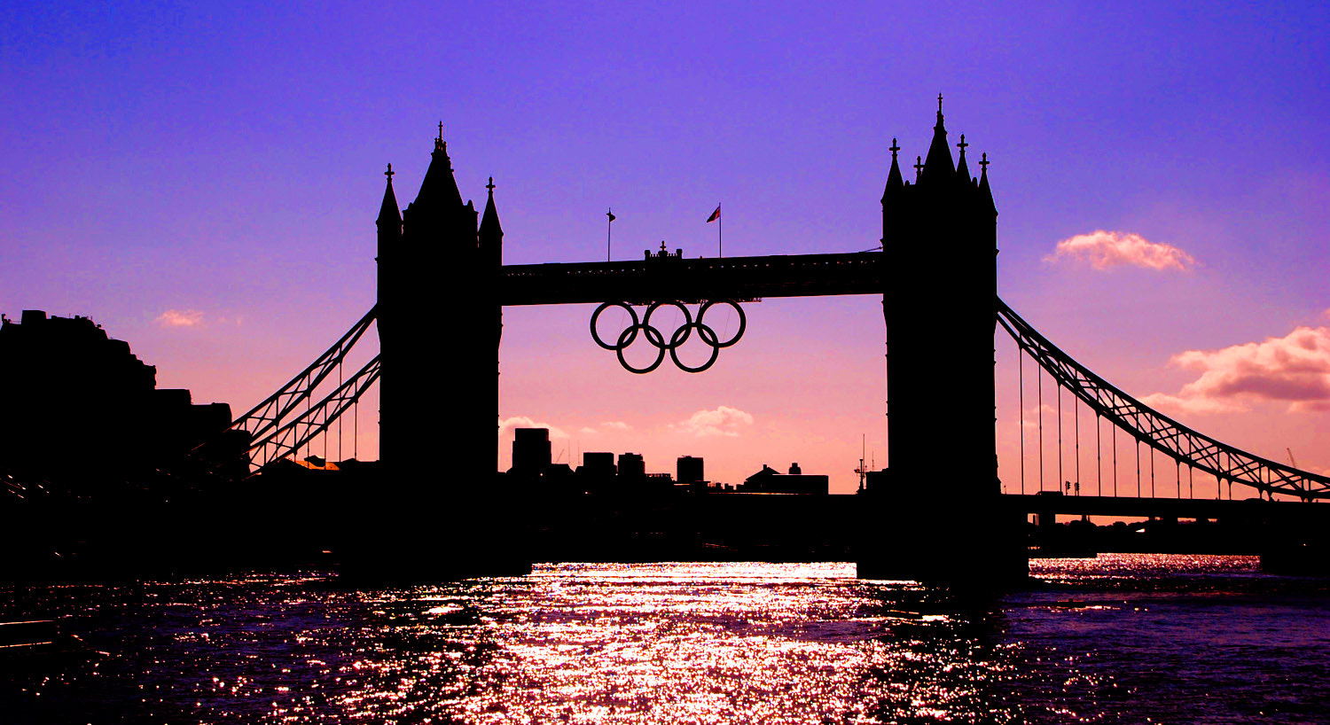 Photograph Tower Bridge with Olympic Rings 2012 by Ashley Carter on 500px