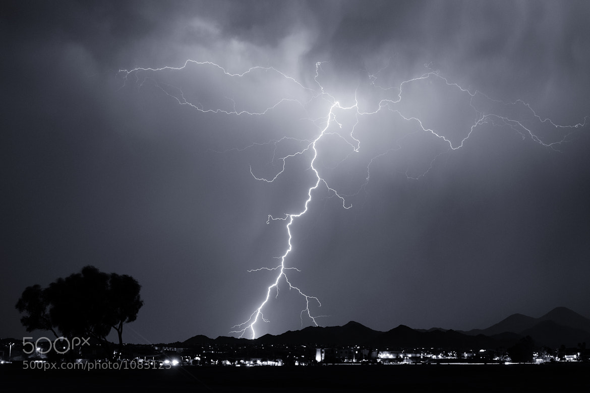 Photograph The Big One - Lightning over Fountain Hills, AZ by Christoph Schweiger on 500px