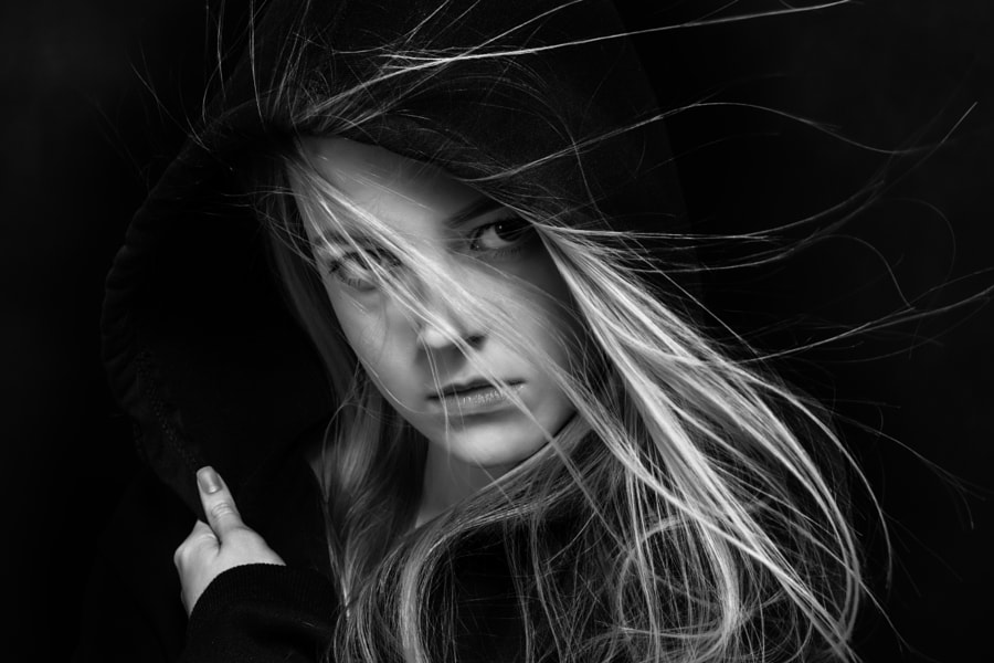 scared girl in black by Alekcej Tugolukoff on 500px.com
